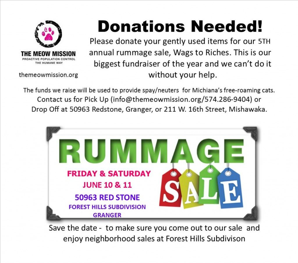 Wags to Riches Rummage Sale